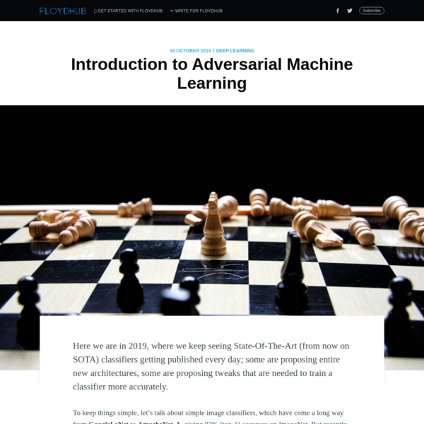 Introduction to Adversarial Machine Learning