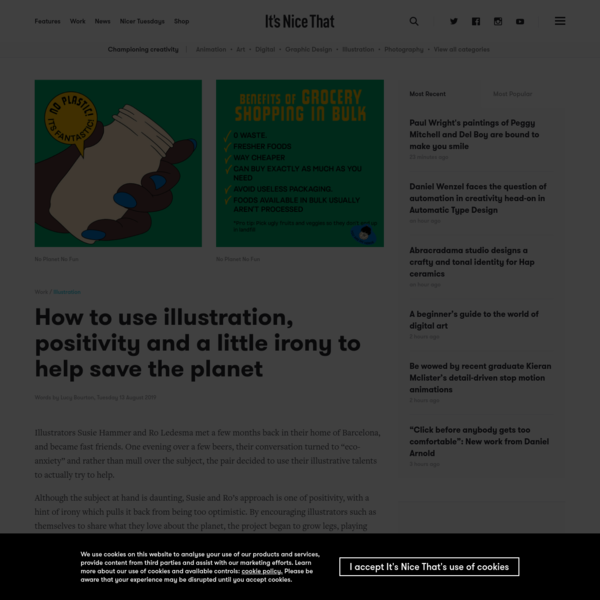 How to use illustration, positivity and a little irony to help save the planet