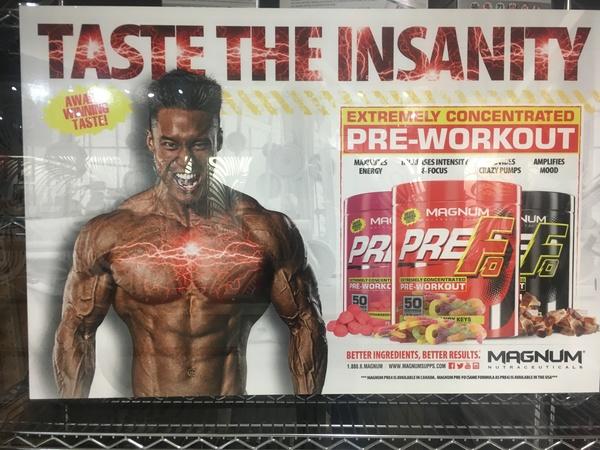 Pre F0 Pre-Workout Supplement Signage, San Francisco