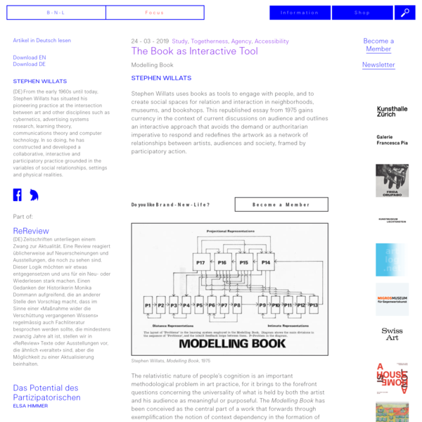 The Book as Interactive Tool