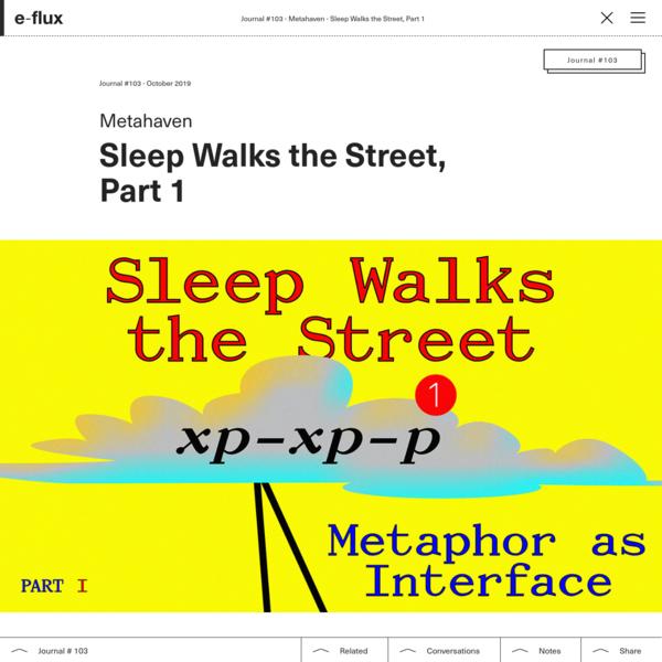 Sleep Walks the Street, Part 1