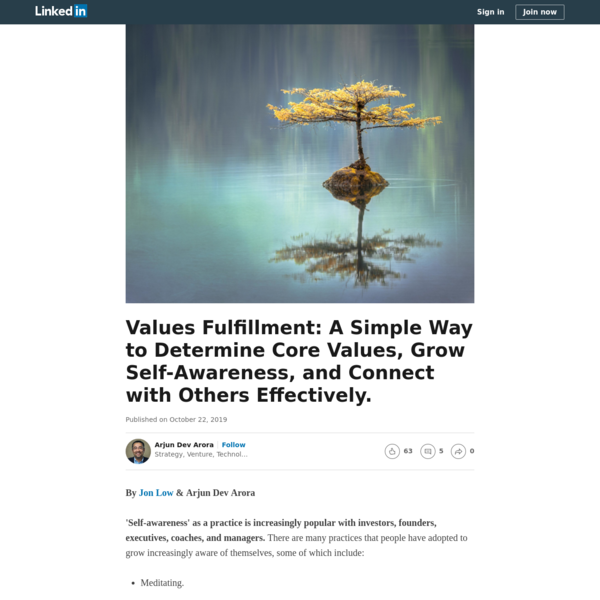 Values Fulfillment: A Simple Way to Determine Core Values, Grow Self-Awareness, and Connect with Others Effectively.