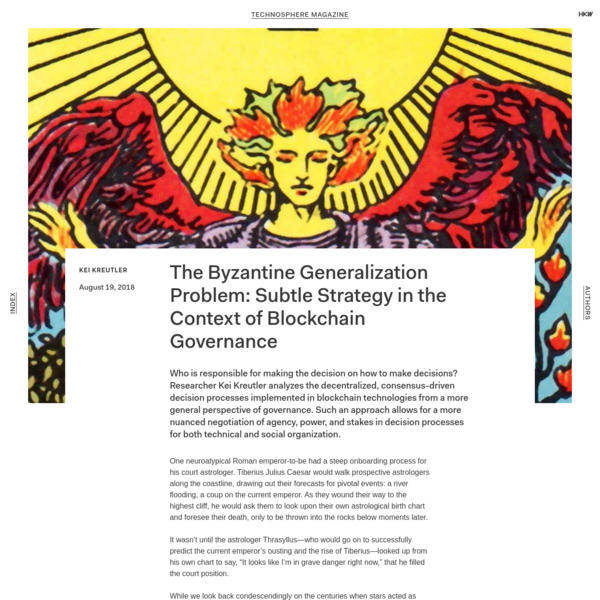 Technosphere Magazine: The Byzantine Generalization Problem: Subtle Strategy in the Context of Blockchain Governance