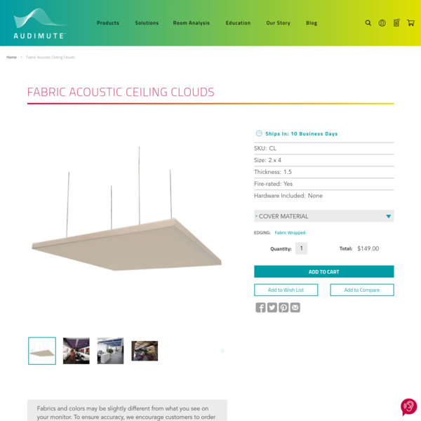 Fabric Acoustic Ceiling Clouds