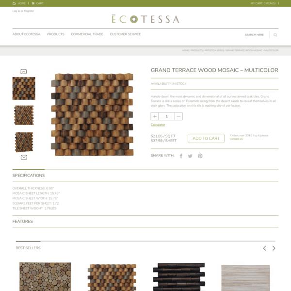 Grand Terrace Wood Mosaic - Multicolor