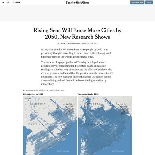 Rising Seas Will Erase More Cities by 2050, New Research Shows - The New York Times