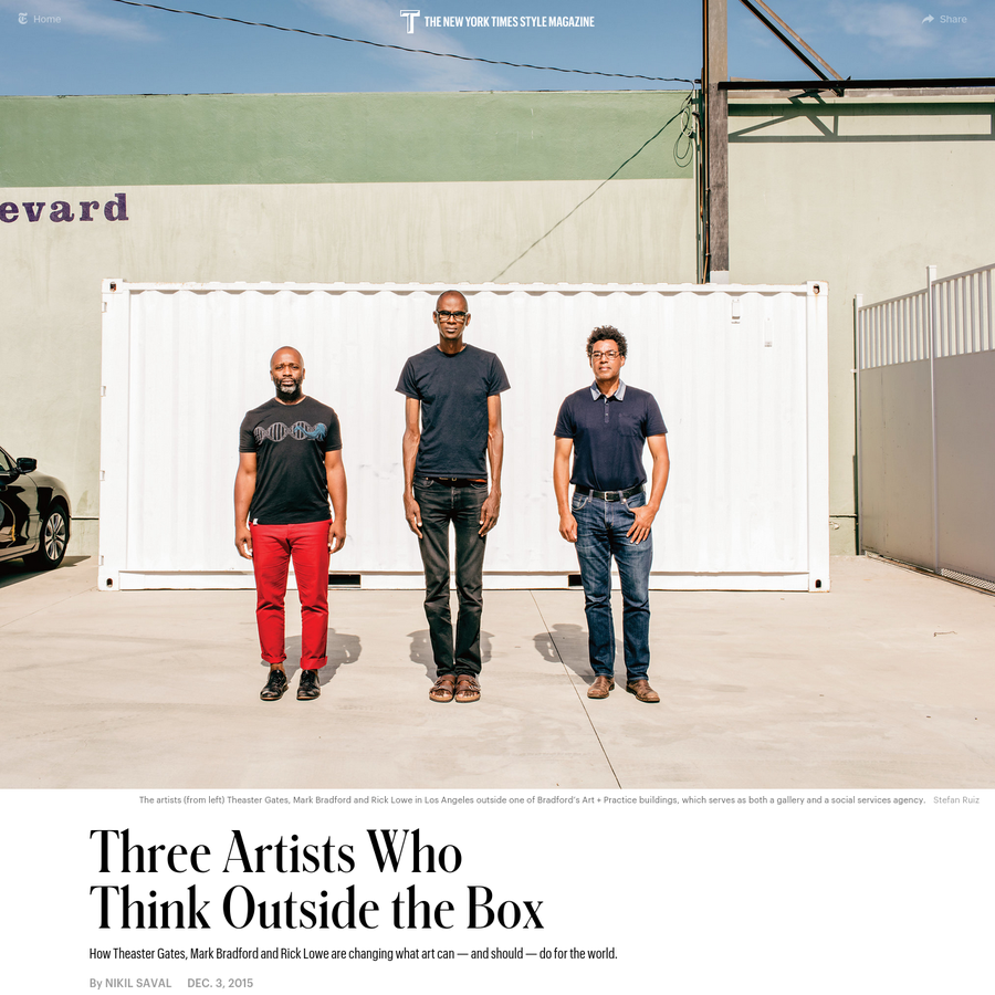 Three Artists Who Think Outside the Box