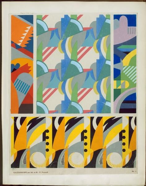 Kaleidoscope : ornements abstraits : quatre-vingt-sept motifs en vingt planches