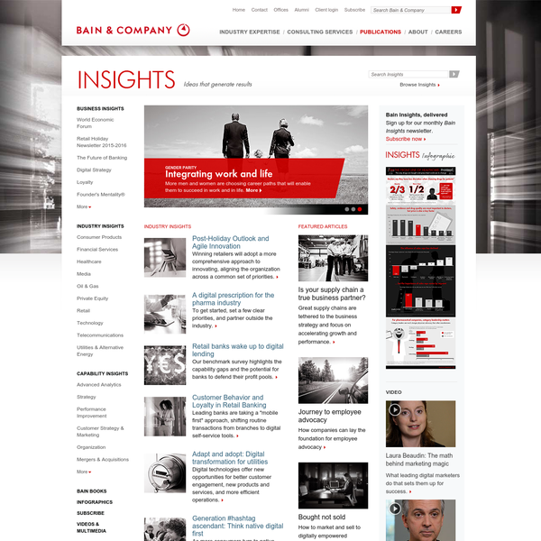 Bain Publications: Insights, Ideas that generate results