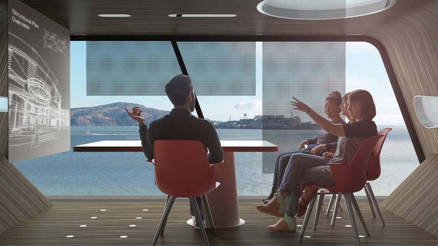Nexus concept—explores how working spaces can come closer to where people live instead of commuters heading to pre-determined workplaces