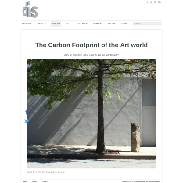 The Carbon Footprint of the Art world