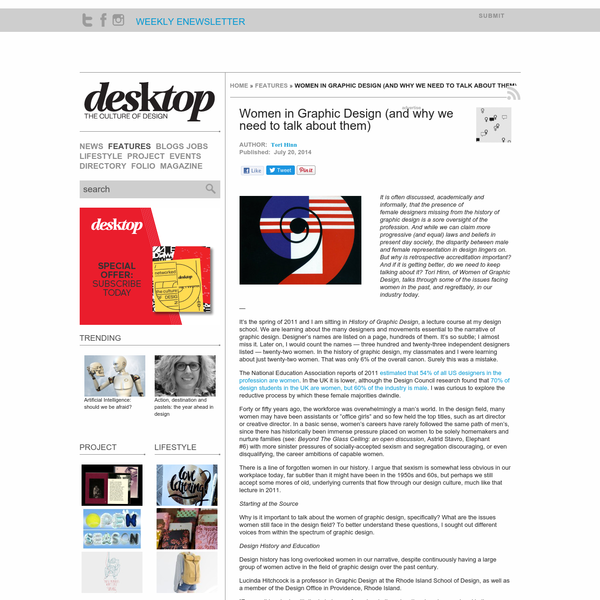 Women in Graphic Design (and why we need to talk about them) | Desktop
