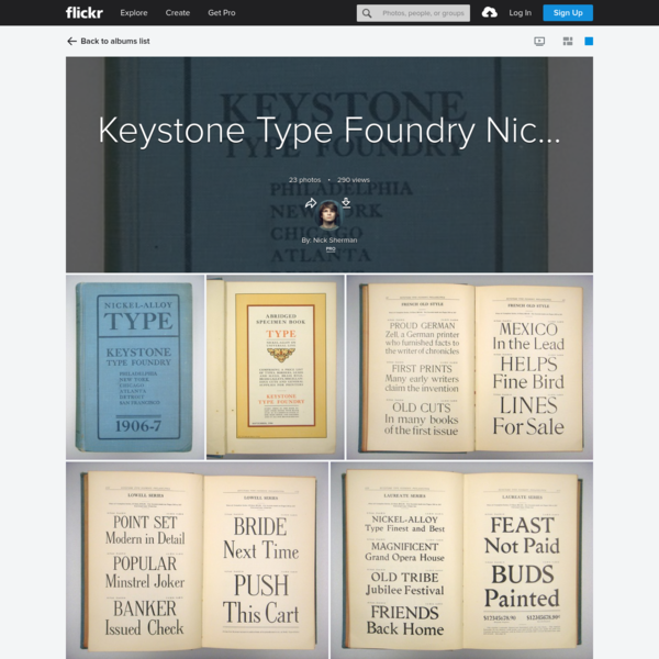 Keystone Type Foundry Nickel-Alloy Type specimen book, 1906-7