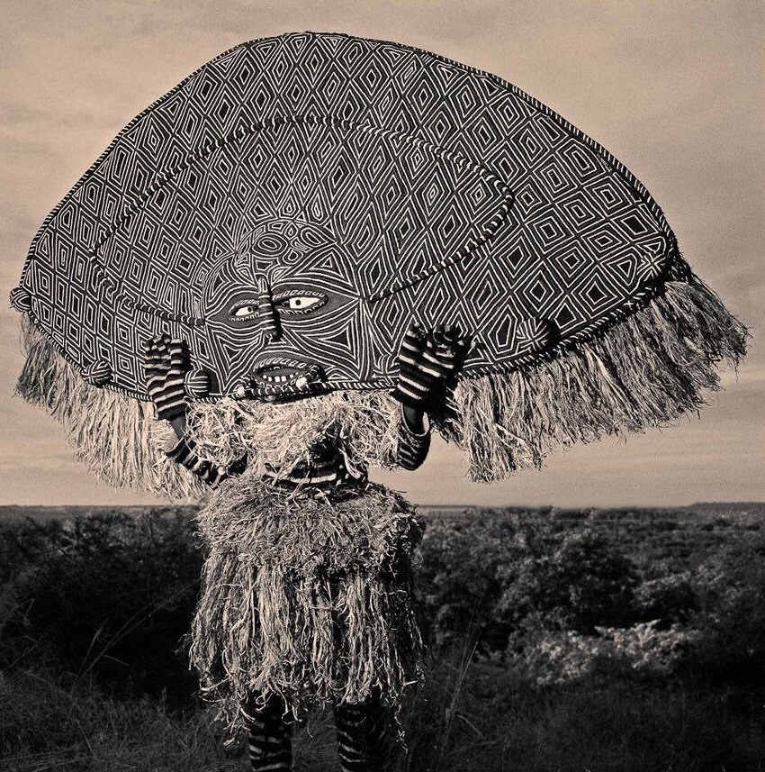 Mask of tribes of the Republic of Zambia