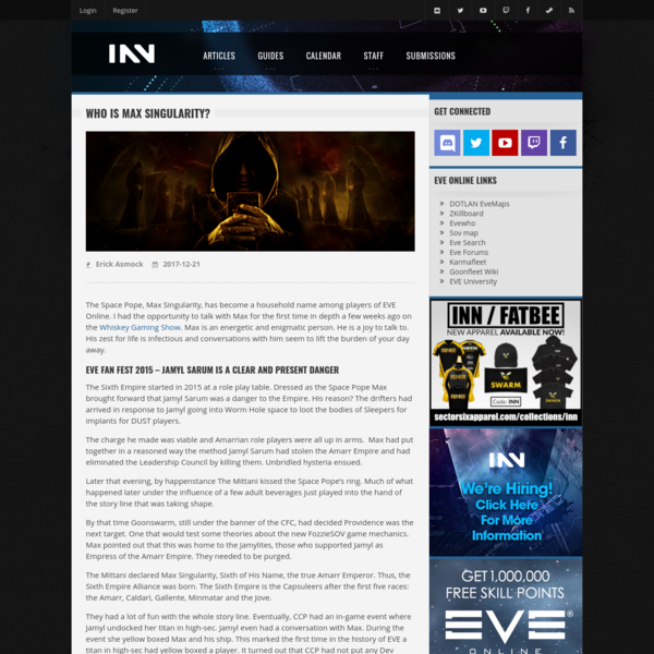 Who is Max Singularity? - INN