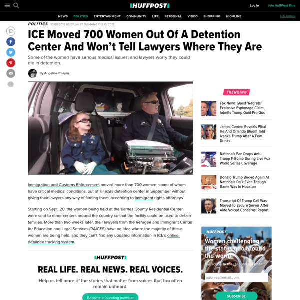 ICE Moved 700 Women Out Of A Detention Center And Won't Tell Lawyers Where They Are
