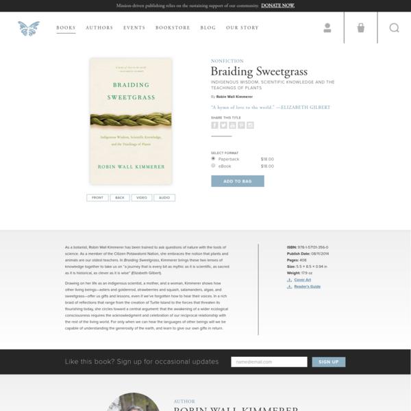Braiding Sweetgrass | Milkweed Editions