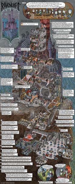 Ravenloft Map by Jason Thompson, 2013