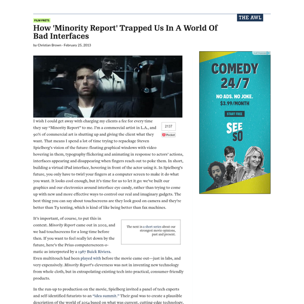 How 'Minority Report' Trapped Us In A World Of Bad Interfaces