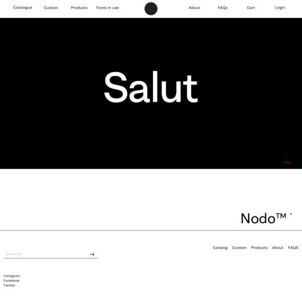 Nodo Typefoundry - Nodo Typefoundry