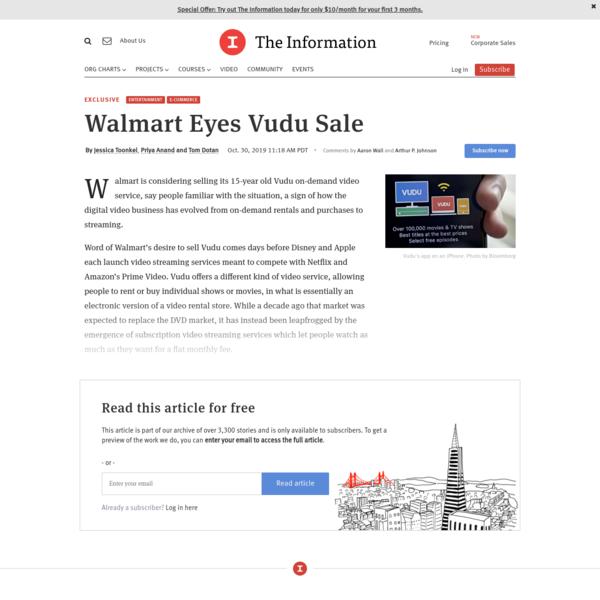 Walmart Eyes Vudu Sale