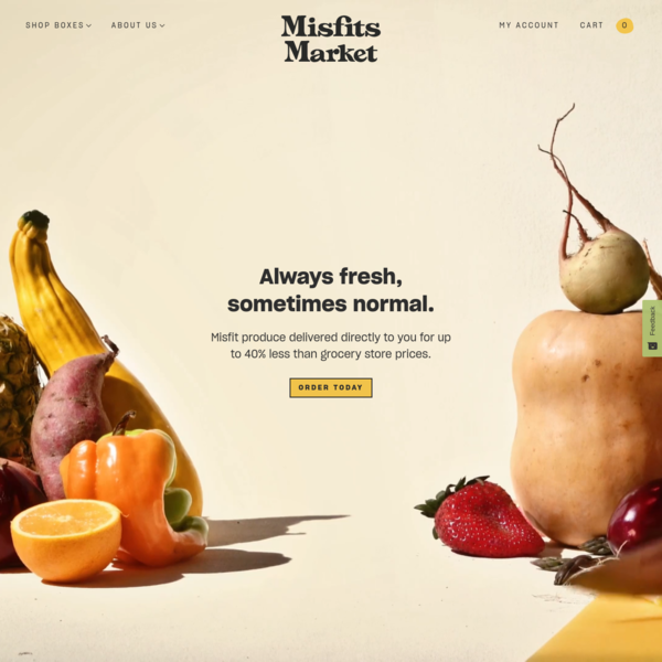 Misfits Market - Ugly and Imperfect Produce, Delivered To Your Door