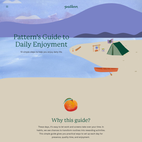 Our Guide to Daily Life | Pattern Brands