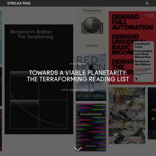 Towards a Viable Planetarity: The Terraforming Reading List