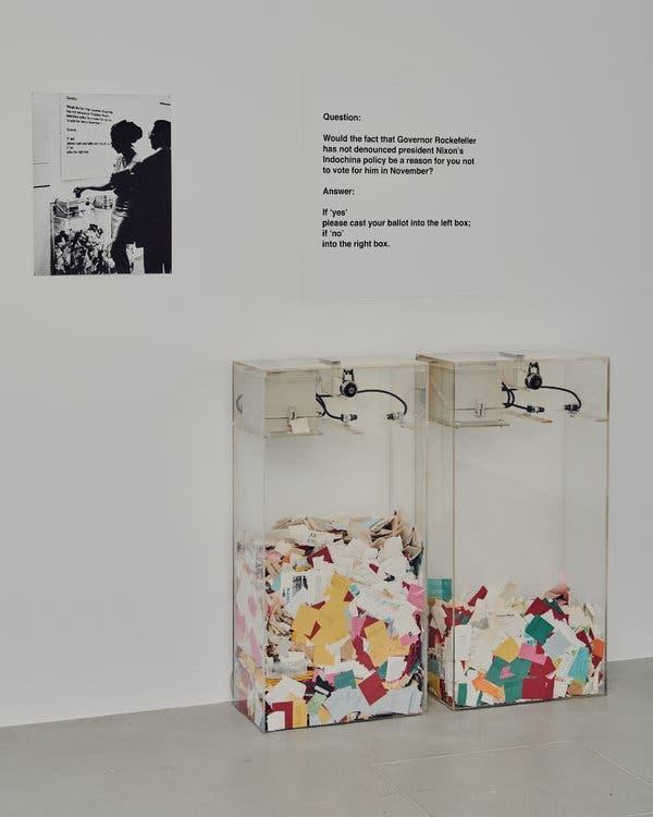 Hans Haacke, MoMA Poll, 1970