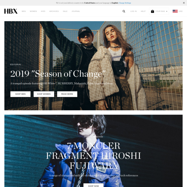 HBX - Globally Curated Fashion and Lifestyle by Hypebeast