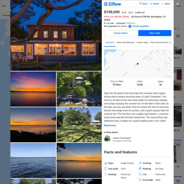 28 Sunset Cliff Rd, Burlington, VT 05408   MLS #4770525   Zillow