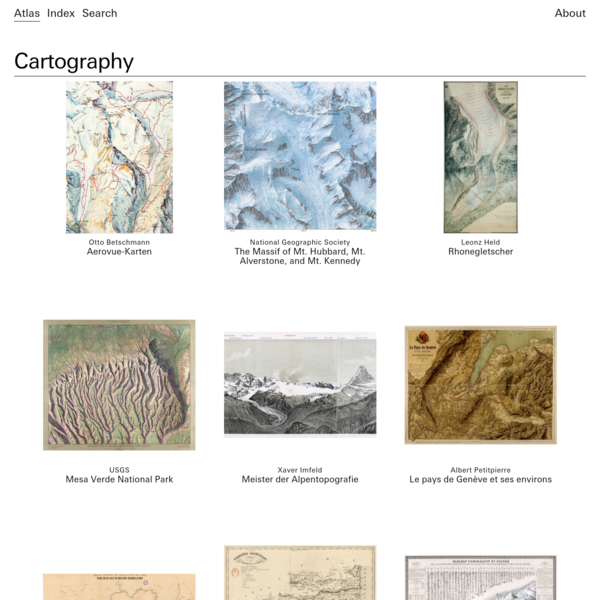Cartography - Atlas of Places