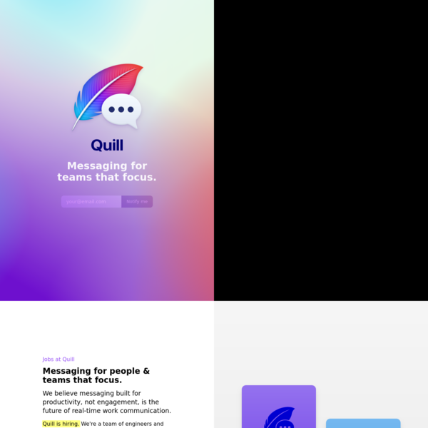 Quill - Messaging for teams that focus