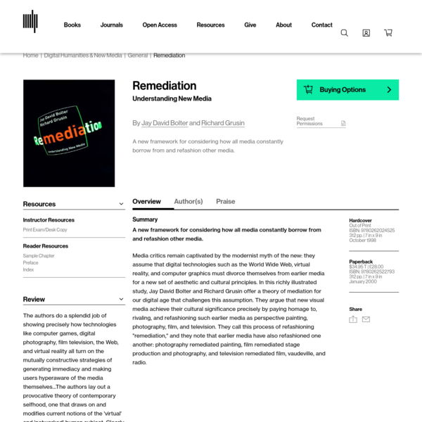 Remediation | The MIT Press