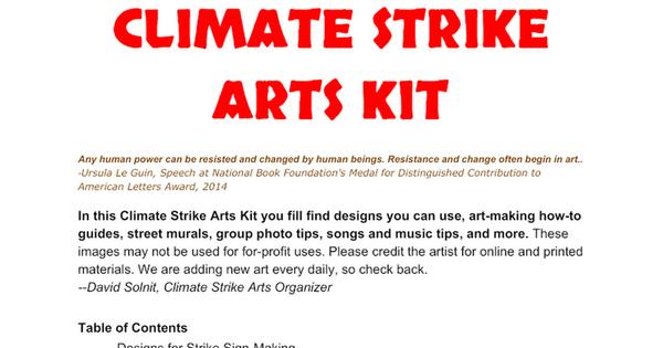 CLIMATE STRIKE ARTS KIT