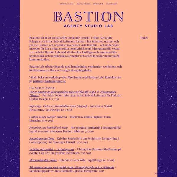 BASTION LAB - Bastion - Agency Studio Lab