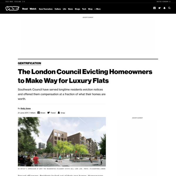 The London Council Evicting Homeowners to Make Way for Luxury Flats