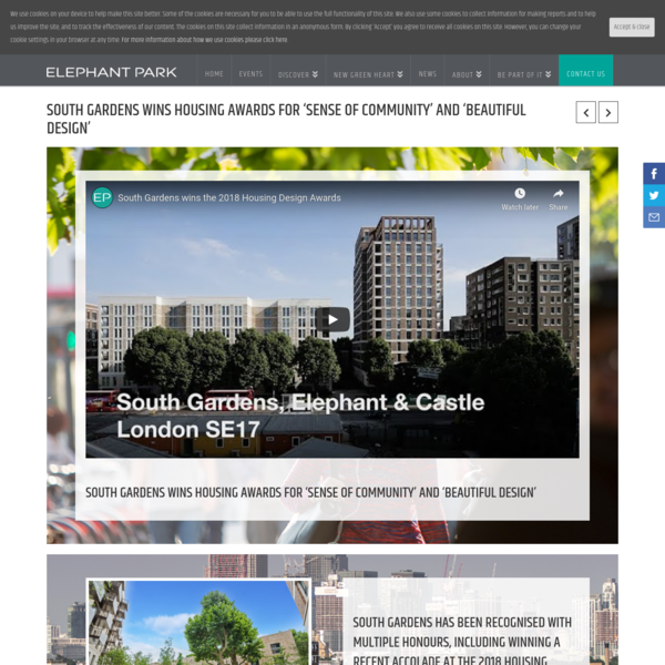 Housing design award for South Gardens homes in Elephant Park