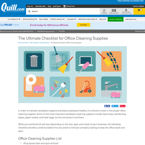 The Ultimate Checklist for Office Cleaning Supplies