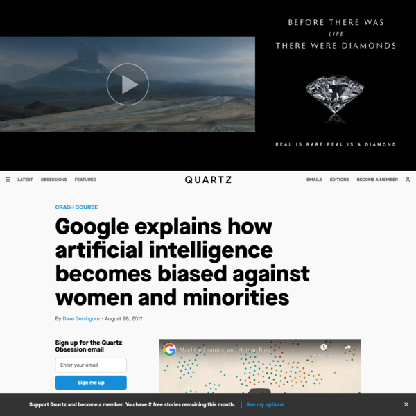 Google explains how artificial intelligence becomes biased against women and minorities
