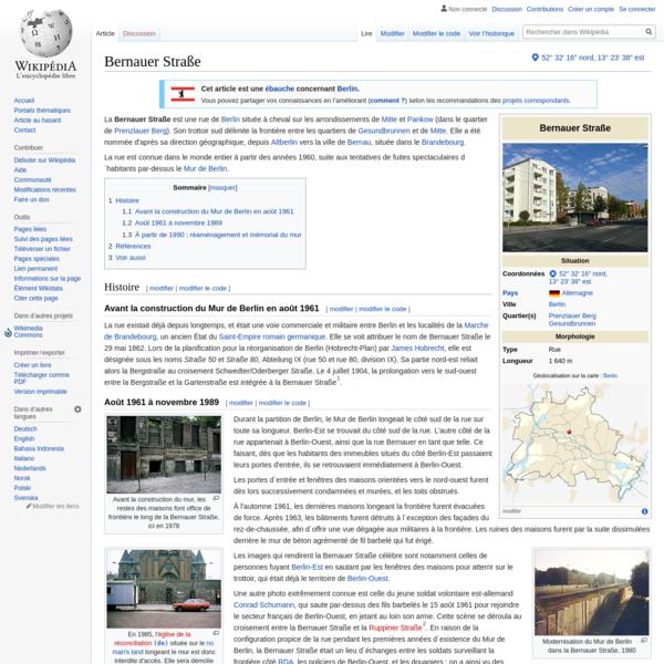 Bernauer Straße