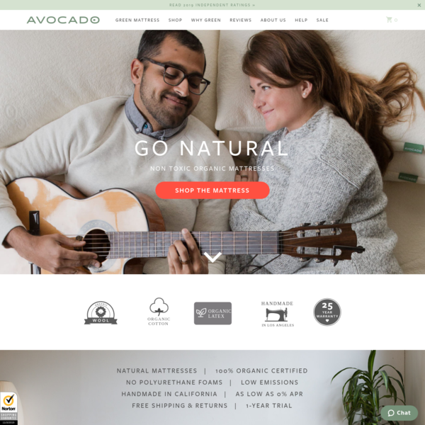 Organic Mattress, Natural Mattresses   Avocado Green Mattress®
