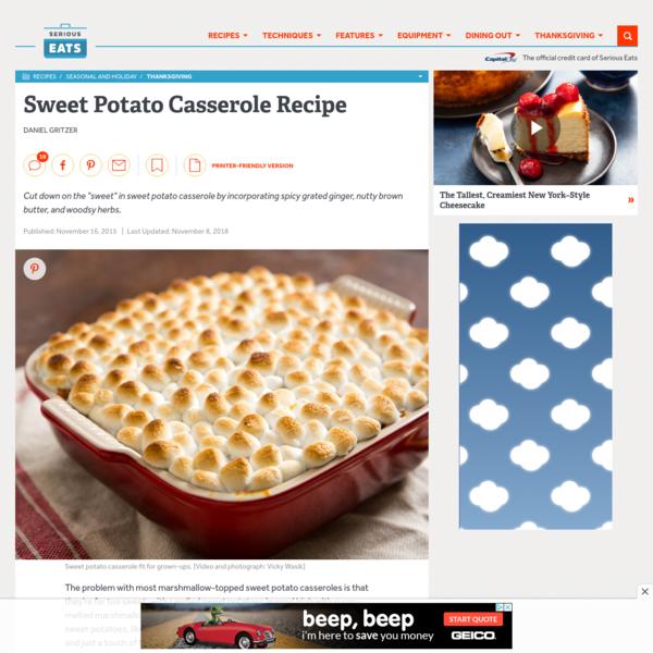 Sweet Potato Casserole With Marshmallows Recipe | Serious Eats