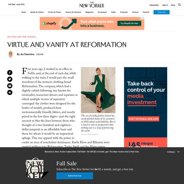 Virtue and Vanity at Reformation | The New Yorker