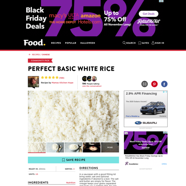 Perfect Basic White Rice Recipe - Food.com