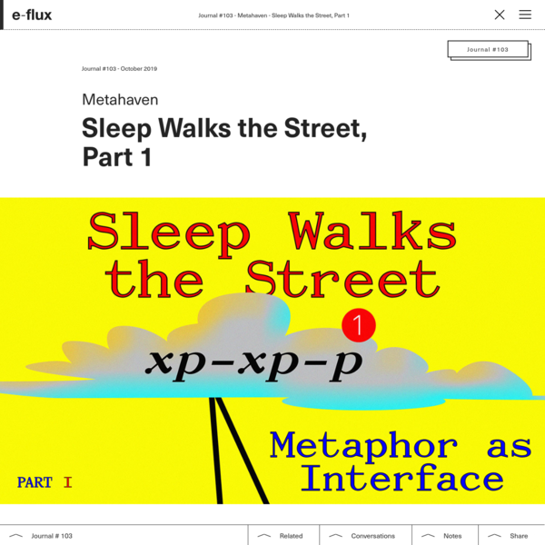 Sleep Walks the Street, Part 1