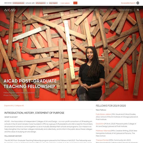 AICAD Post-Graduate Teaching Fellowship - AICAD