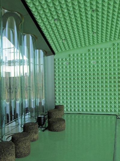 Pyramid foam acoustic insulation