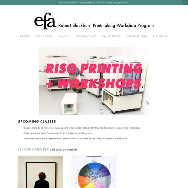 RISO Room - Robert Blackburn Printmaking Workshop