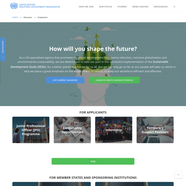 Employment | UNIDO